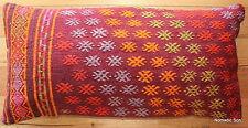 (40*80cm, 16*32inch) Boho style Handwoven kilim cushion cover blossoms pair 1