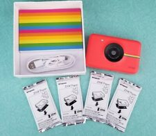 Polaroid Snap 10.0MP Digital Camera - HTF RED!! & 4 NIP film pack (+ extra film)