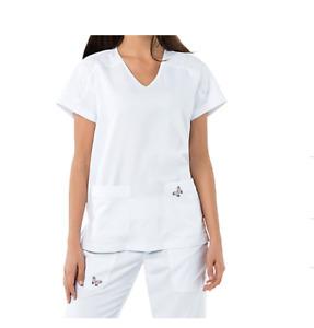 Koi Mariposa Medical Scrub Set Maria Pant 728 & Cassie Top 364 White 2XL New