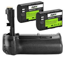 ayex Akkugriff Batteriegriff für Canon EOS 80D 70D inkl. 2 LP-E6 Akkus