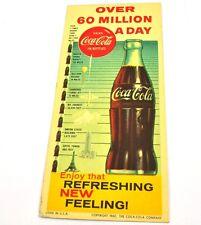 Coca Cola Coke Papier Buvard Ink USA 1960 Bouteille Plus de 60 Million a Journée