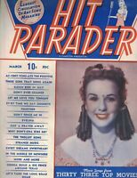 Hit Parader Magazine March 1945 Deanna Durbin Artie Shaw Bing Crosby