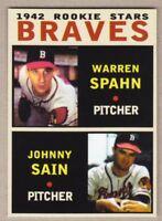 Warren Spahn & Johnny Sain '42 Boston Braves rookie stars MC Pastime Series #17