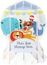 Baby Mobile  Up With Paper 5 Inches Snow Globe Pop Up Greeting Card