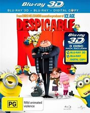 Despicable Me 3D (Blu-ray, 2011, 2-Disc Set) NEW UNSEALED
