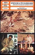 APPORTEZ-MOI LA TETE D'ALFREDO GARCIA (Fiche Cinéma) 1974 - Bring Me the Head of