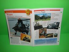 EUROCOPTER TIGER AIRCRAFT FACTS CARD AIRPLANE BOOK 167