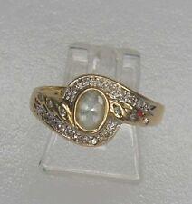 Ring mit Saphir und Diamanten 585er Gold