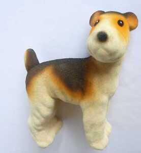 1970s USSR Estonian Vintage Polymer Toy Dog Type FOX TERRIER