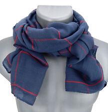 Men's scarf blue red stripes von Ella Jonte Fashion Scarf Viscose new season