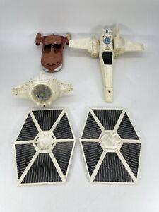Vintage Star Wars Vehicle Lot 1970s Tie Fighter Land Speeder X Wing (Read Desc)