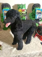 "Melissa and Doug Giant Lifelike Labradoodle Black Plush  Stuffed Dog 25"" Tall"
