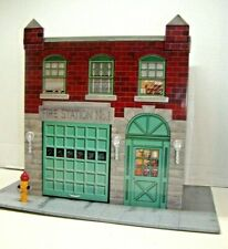1999 Hallmark Kiddie Car Classics Fire Station No. 1 Large Tin Litho Building