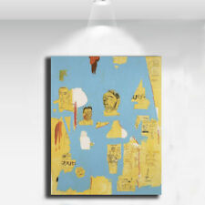 "Jean-Michel Basquiat ""PLASTIC SAX"" HD print on canvas huge wall picture 36x24"""