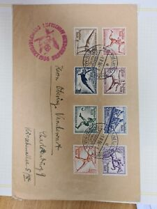 Germany 1936 Zeppelin Olympic Flight with set H52