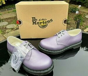 Dr Martens 1461 Lavender metallic leather 3- eye shoes UK 5 EU 38 RRP £119 BNIB