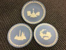 Wedgwood Vintage Jasperware Large Christmas Plates in Boxes 1969-'71 - Set of 3