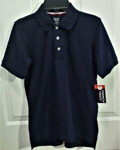 NWT French Toast School Uniform Pullover Shirt - Boy's Size L 10/12 Navy