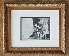 PABLO PICASSO ORIGINAL BEAUTIFUL VERVE 1951 PHOTOGRAVURE MATTED 11 X 14