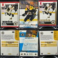 Boston Bruins 3 Card Rookie Lot Senyshyn Young Guns Seguin Base & Gold Parallel