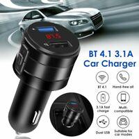 Voiture sans fil Bluetooth Transmetteur FM Adaptateur Radio Lecteur MP3 Charg LB