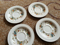 Royal Couldon Bristol ironstone England pottery Vintage 4 pcs plate  Paradise