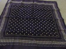 Vintage Blue Dot Bandana Handkerchief