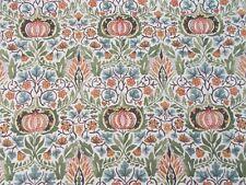 William Morris Curtain Fabric 'LITTLE CHINTZ' 1.5 METRES Olive/Ochre - Linen Mix