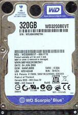 WD3200BEVT-00A1TT0,  DCM:HANTJBBB,   WESTERN DIGITAL SATA 320GB