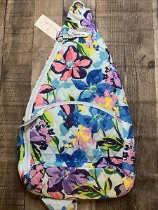 Vera Bradley Essential Sling Backpack Bag Marian Floral NWT