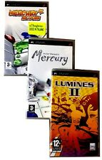 3 PSP PlayStation Lotto Stock MERCURY MELTDOWN+ARCHER MACLEAN'S MERCURY+LUMINES
