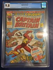CAPTAIN BRITAIN #1 CGC 9.8 WHITE Pages Early Chris Claremont 1st Appearance