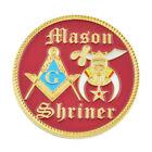 Shriner Masonic Auto Emblem - [Red & Gold][2'' Diameter]