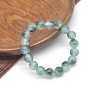 10mm Natural A Grade Green Jade Jadeite Round Gemstone Beads Bracelet Jewelry