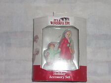 """Its a wonderful life village enesco """"WOMAN WITH CHILD """"holiday  set"""