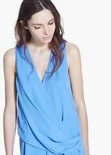 Woman draped wrap dress size S UK 8 new mango RRP 50£