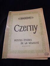 Partition Czerny petites études de la vélocité Lazare Lévy Music Sheet