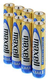 14 MAXELL AAA ALKALINE BATTERIES AKA LR03 MN2400 AM4 LR3 1.5V EXPIRY 11/2023 NEW