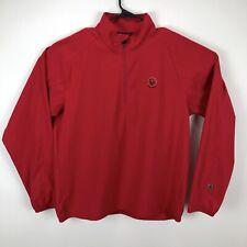 Zero Restriction Mens Zip Golf Wind Rain Jacket Red - Large