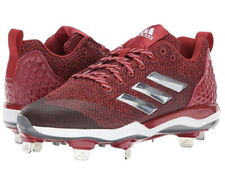 Adidas Women's PowerAlley 5 Metal Fast Pitch Softball Cleats Red B39219 Size 9