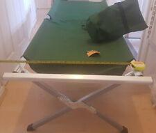 Milestone Camping 20260 Folding Camp Bed ~ Portable, Outdoor, Indoor ~ Aluminium