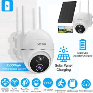 Caméra IP de sécurité sans fil 1080PWiFi Surveillance extérieure+panneau solaire