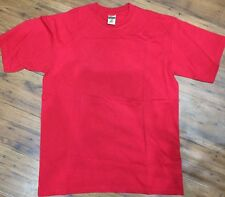 Mens Cotton T-Shirts Jerzees Unisex Red BUY ONE GET ONE FREE  S M XL