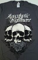 Mens Apocalyptic Nightmare Short Sleeve T-Shirt Small Grey CID Originals BNWT