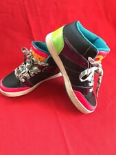 Osiris Skate Shoes 5 Convoy Mid Neon Pink Blue Green Yellow  Multi-color - we