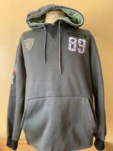 Nike Oakland Raiders Salute Military Camo Hoodie Sweater Size Medium Pre-Owned