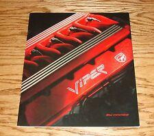 1992 Dodge Viper Full Color Catalog Sales Brochure 92