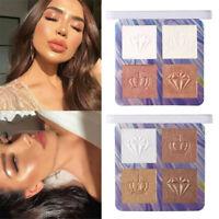 Highlighter Facial Bronzers Palette Makeup Glow Face Contour Shimmer Powder