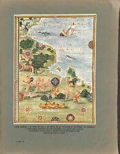Carte du Pérou la Patagonie le détroit de Magéllan Amérique du ILLUSTRATION 1934