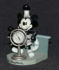 Disney World Clock Steamboat Willie Mickey Mouse Helmsman